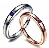 cincin nikah mewah batu ruby dan saphire