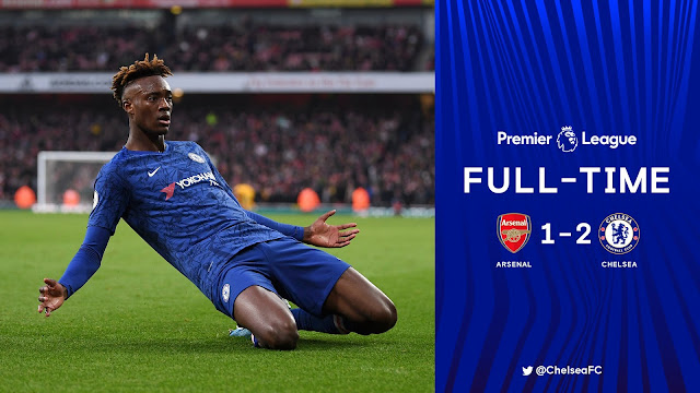 Frank Lampard Blues came from behind to beat Gunners at the Emirates Stadium after Aubameyang put the home team ahead but tactical changes from the visitors saw Jorginho and Tammy Abraham strikes the winner which saw the match end 1-2.