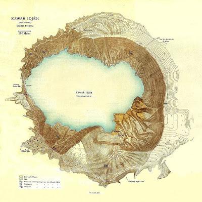 Mapa Kawah Ijen