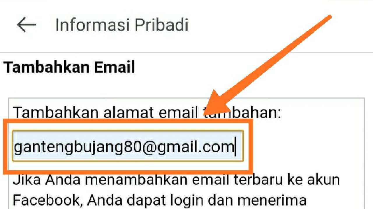 Cara mengganti email FB yang terkunci