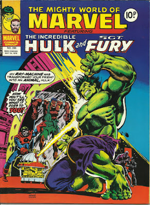 Mighty World of marvel #295, the Hulk vs Captain Barracuda