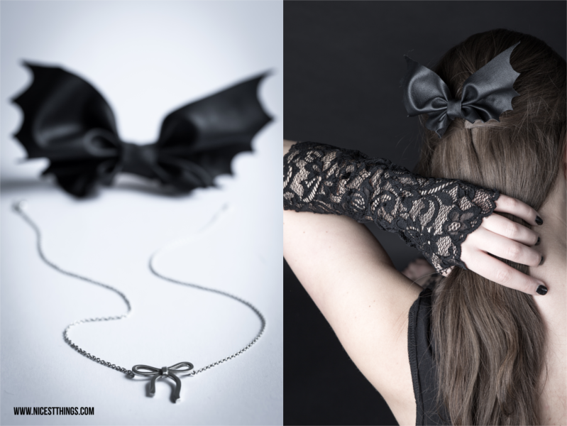 DIY Bat Bow Fledermaus Schleife Halloween
