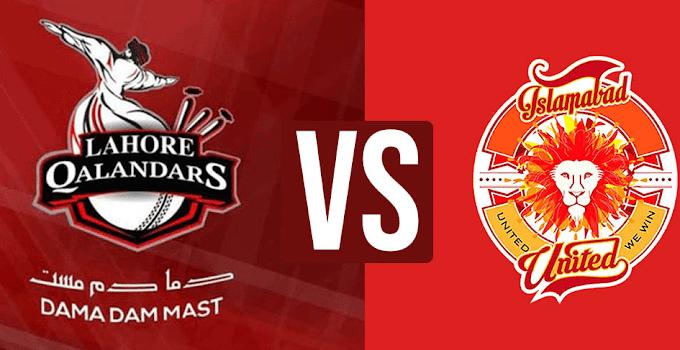 PSL 6 | Islamabad United vs Lahore Qalanders | Live Streaming | Match No. 20