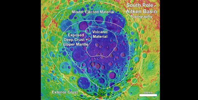 A new study shows four distinct compositional regions within and around the Moon's largest impact basin. The findings could help guide future exploration of the basin. NASA/Goddard Space Flight Center