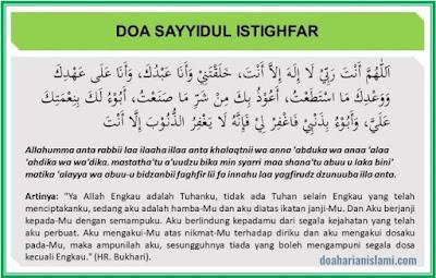 Bacaan Doa Sayyidul Istighfar Lengkap dengan Latin dan Artinya