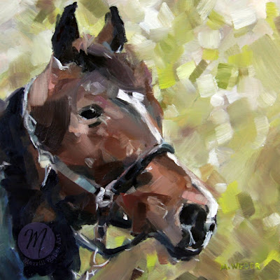 Winston-horse-oil-painting-by-Merrill-Weber