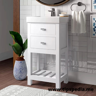 small bathroom cabinet with drawers