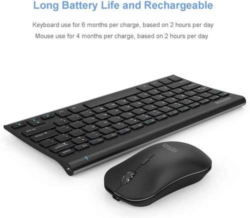 Review Arteck 2.4G Wireless Keyboard and Mouse Combo