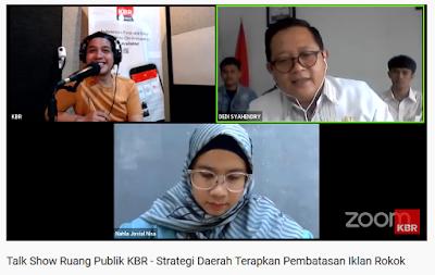 Talk Show KBR Strategi Daerah Terapkan Pembatasan Iklan Rokok