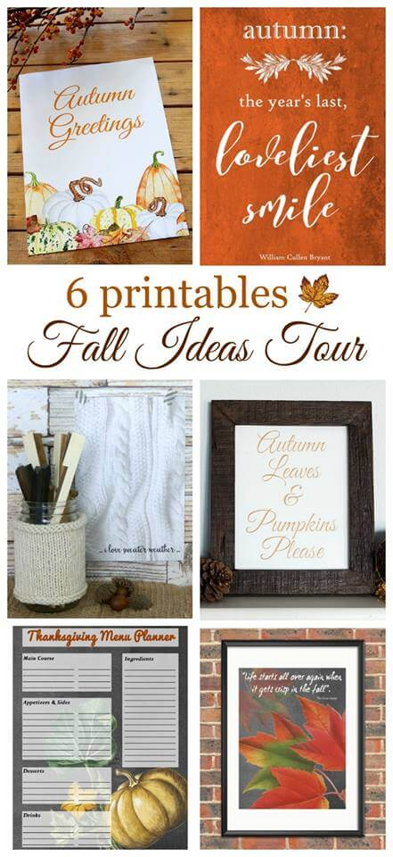 Fall Ideas Tour 2016 Printables