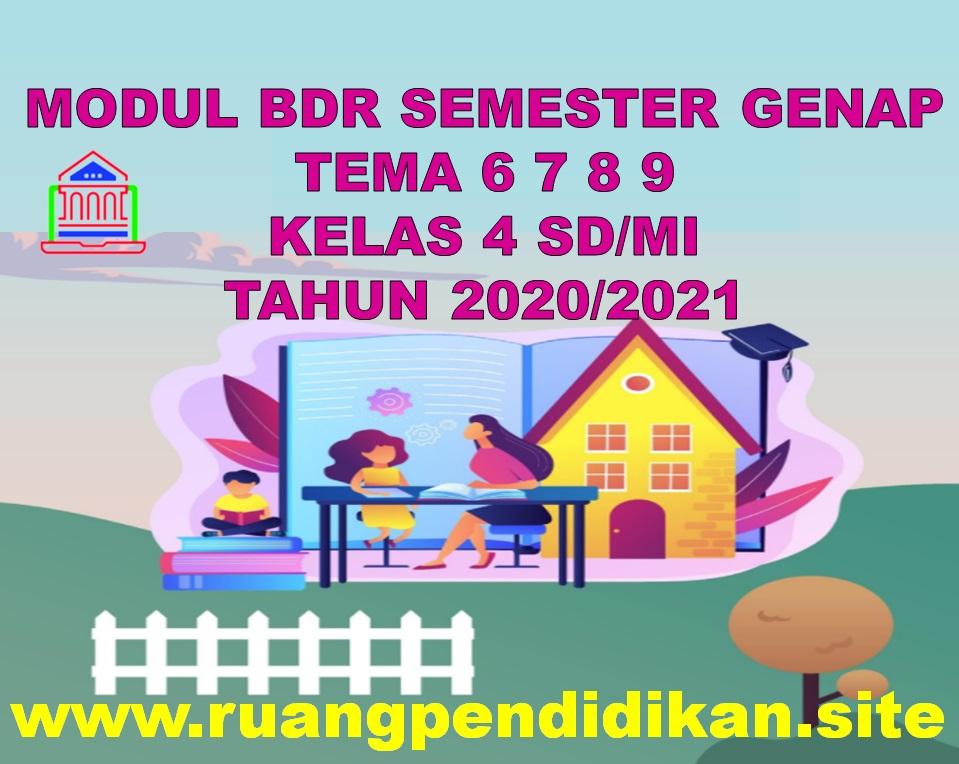 Modul BDR Tema 6 7 8 9 Kelas 4 SD/MI