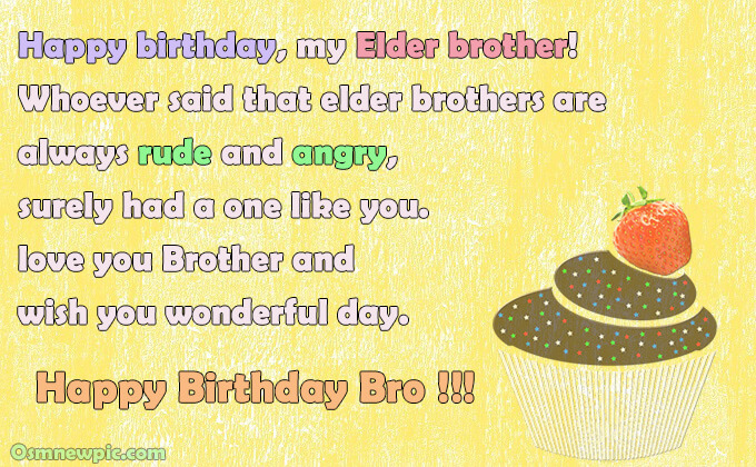 happy birthday wishes for Elder bro