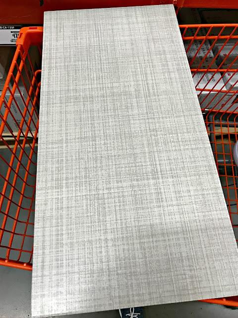 Light gray linen tile