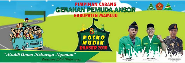 Foto Posko Mudik Banser 2018