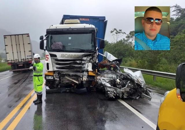 Médico morre em acidente na BR 101, em Macaé
