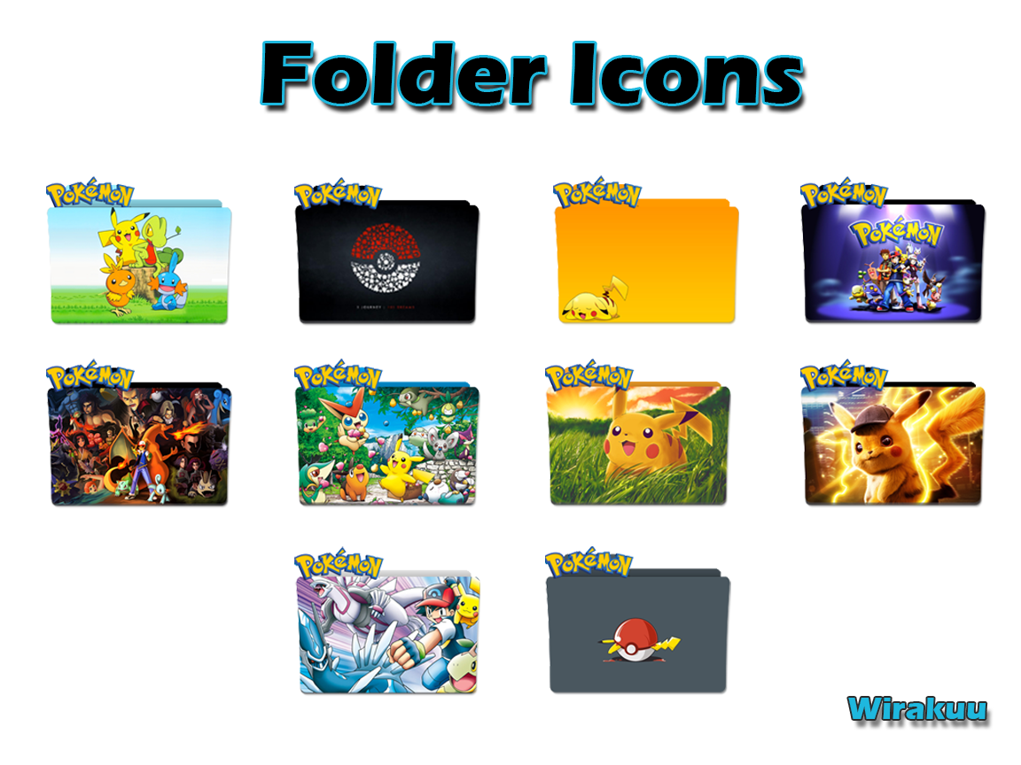 Download Folder Icons Anime Pokemon
