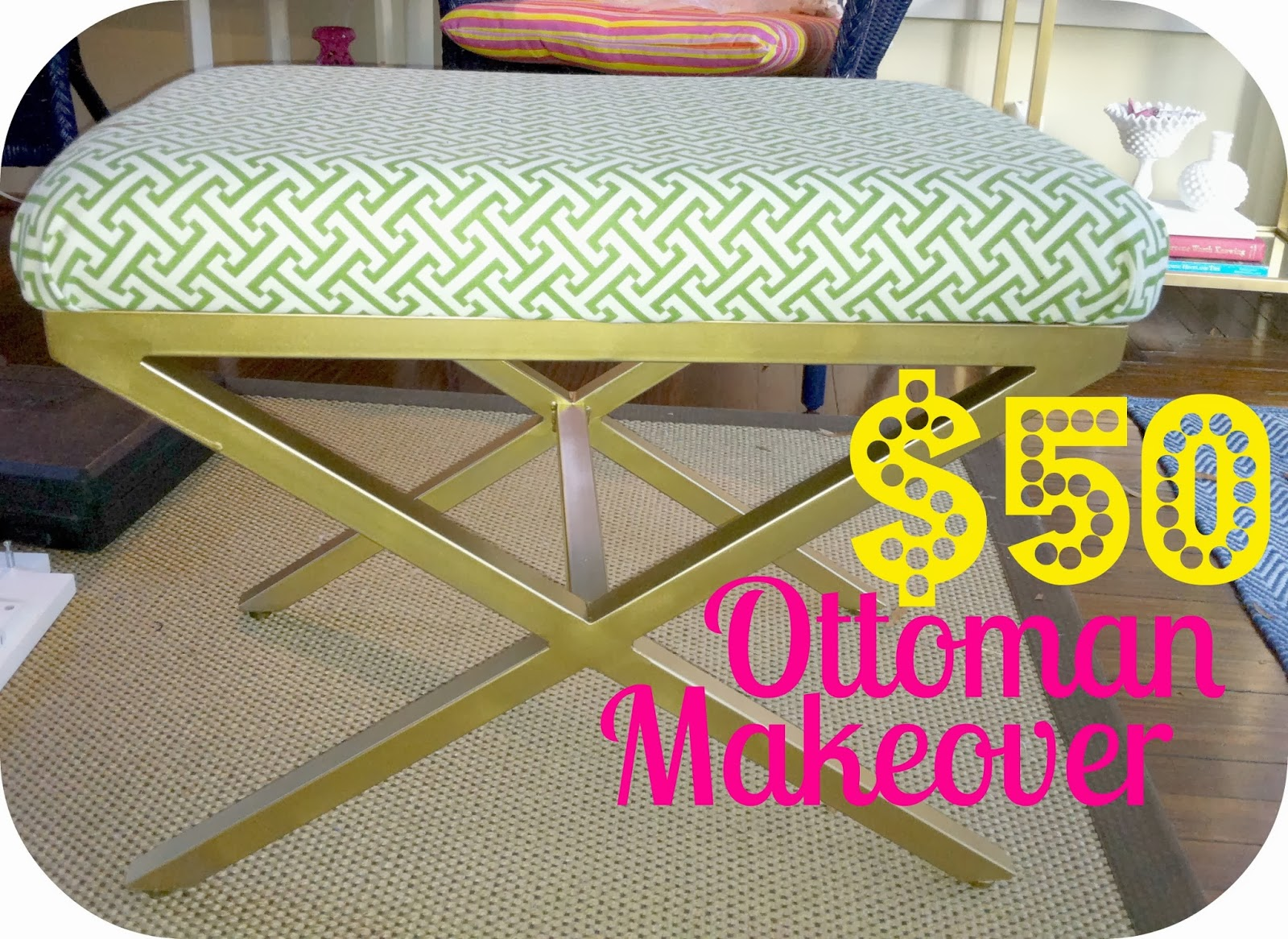 The Luxe Lifestyle 50 X Bench Ottoman Makeover