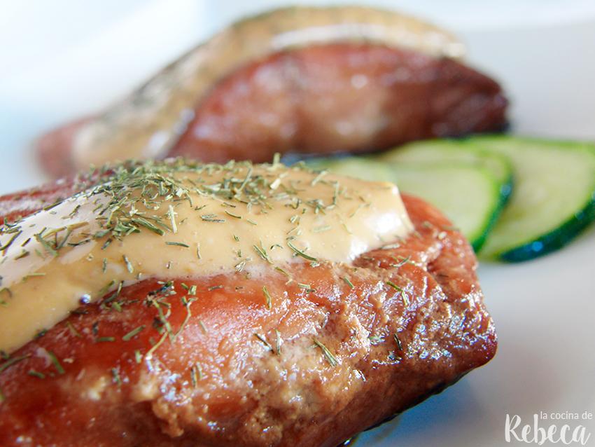 La cocina de rebeca salm n a baja temperatura cocinado for Cocina baja temperatura