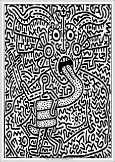 keith haring arts adults coloring pages printable