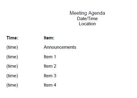 The Admin Bitch Download This Basic Meeting Agenda Template (Word