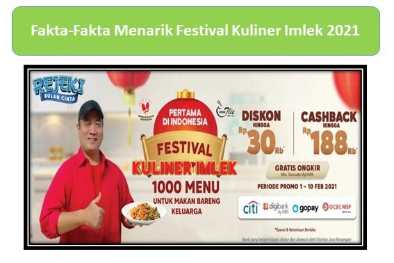 Fakta-Fakta Menarik Festival Kuliner Imlek 2021