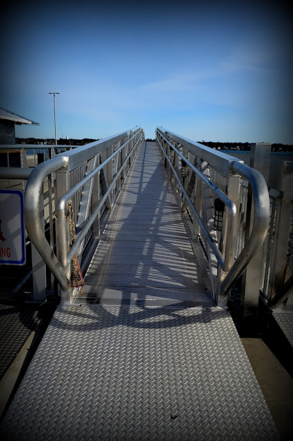 Salem Ferry Wharf, Salem, Massachusetts, ferry, shadow, gangway
