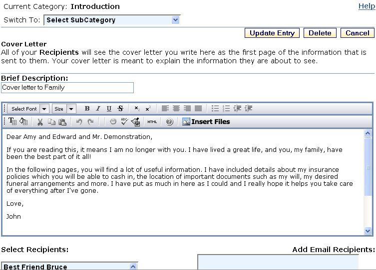 resume sending mail format