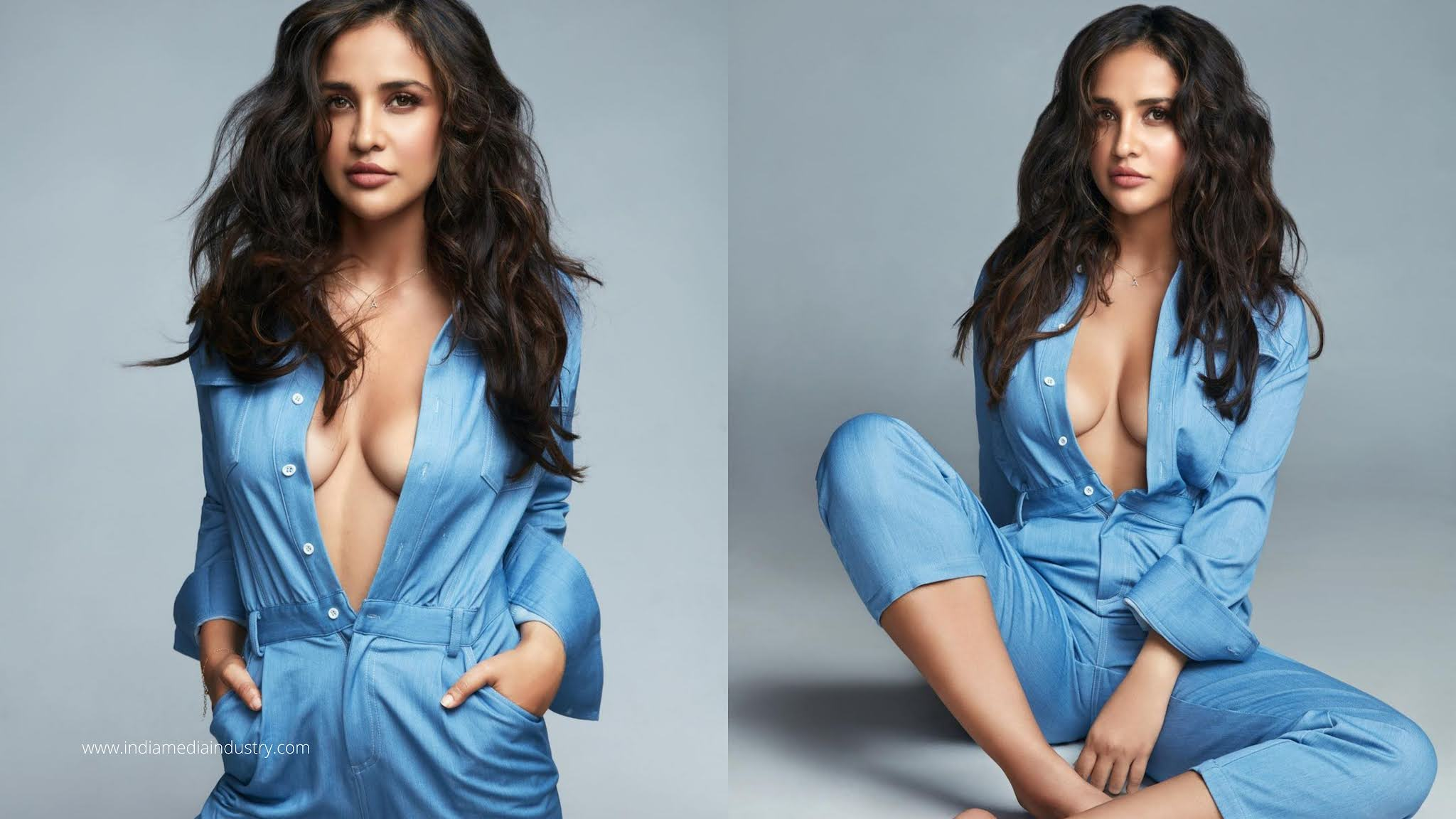 Aisha Sharma goes sensuous in this blue outfit, Looks Hot