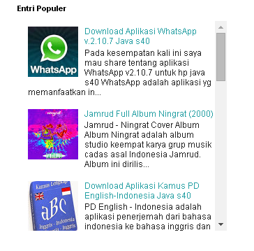Cara Membuat Scroll Pada Popular Post Blog