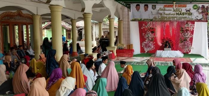 Rahmad Syahroni Buka MTQ dan Festival Nasyid Tingkat Kelurahan  Kabupaten Asahan