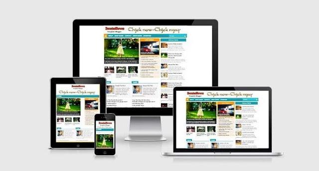 DautoNews responsive blogspot template