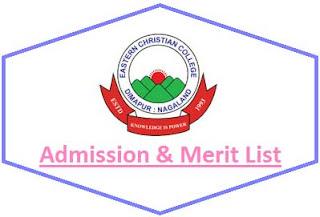 Eastern Christian College Merit List