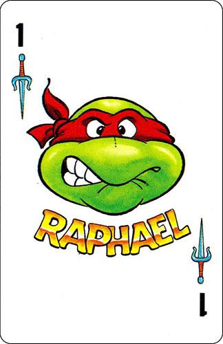 Baraja infantil Las Tortugas Ninja Fournier Carta Raphael 1