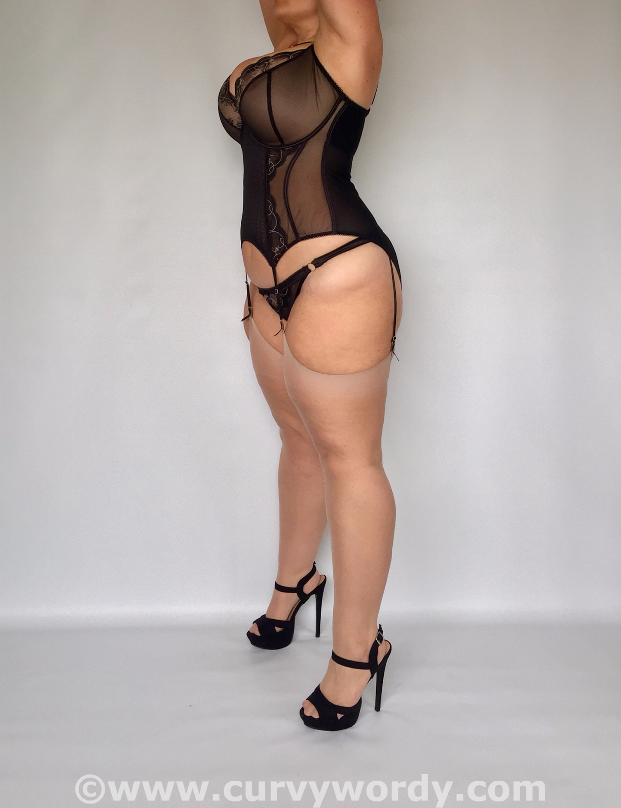 Scantilly Surrender Basque and Peep Hole Briefs