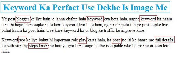 Keyword - SEO Friendly Keyword Kaise Use Kare blog Me