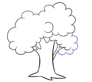 رسم شجره للاطفال رسومات للمبتدئين كيف ترسم شجرة حقيقية