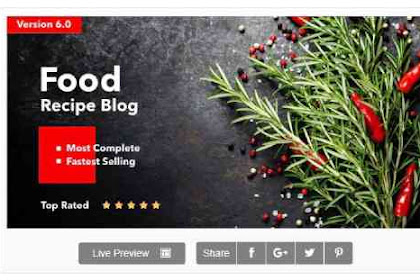 Theme for Food Recipe Bloggers