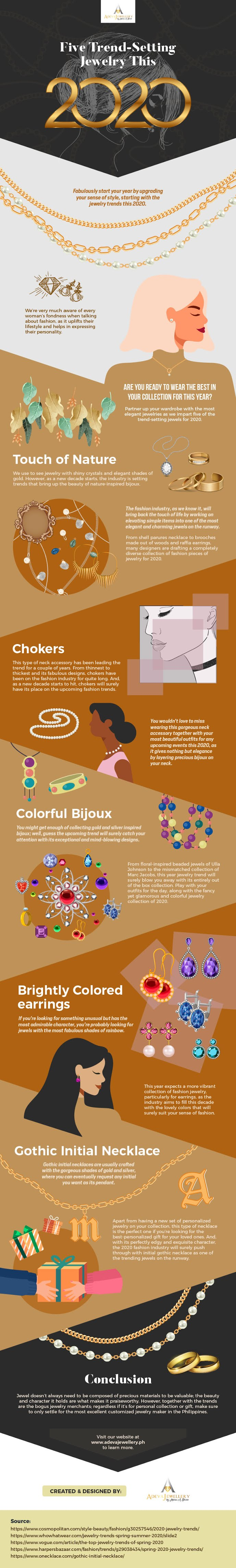 Five Trend-Setting Jewelry Styles in 2020 #infographic
