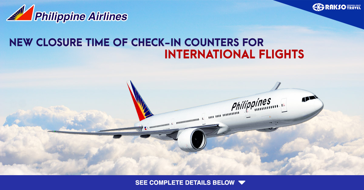 Philippine Airlines New Closure Time Of Check In Counters