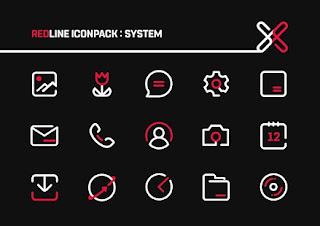 RedLine IconPack : LineX MKBHD Edition v1.2 [Patched] Apk