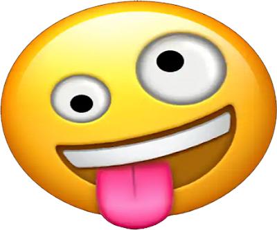Emoticon WhatsApp Crazy Gila Bertindak Konyol Gokil