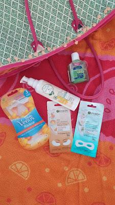 gillete venus riviera, bee beauty organik temizleyici, garnier kağıt göz maskesi, benri aloe vera güneş sonrası jel