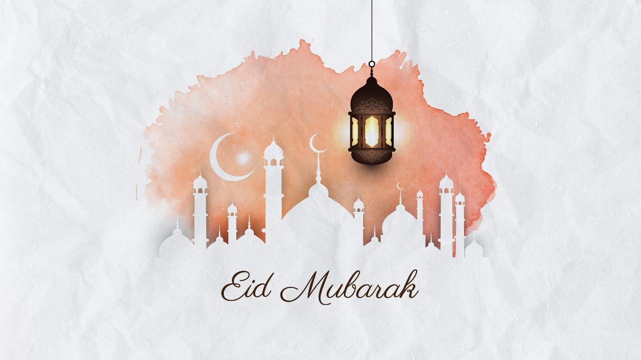 Simple Eid Mubarak online greeting cards
