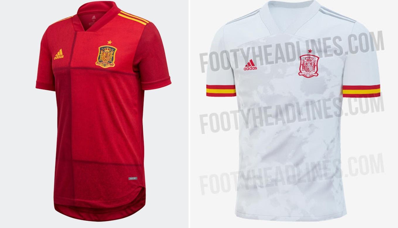 Spain Home & Away Kits for Euro 2020