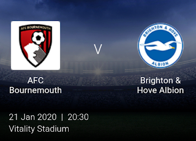 LIVE MATCH: Bournemouth Vs Brighton Premier League 21/01/2020