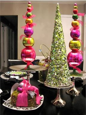 A mi manera adornos navide os bonitos for Adornos navidenos para oficina