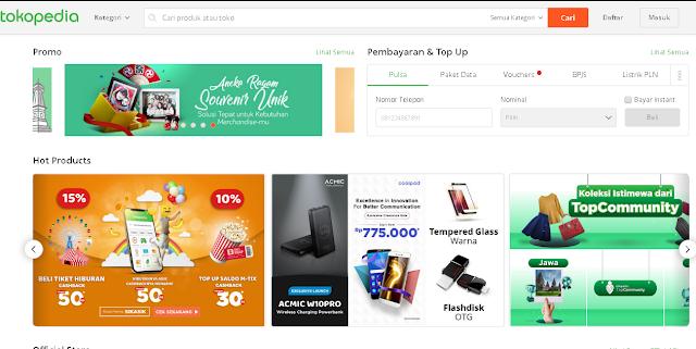 toko online tokopedia
