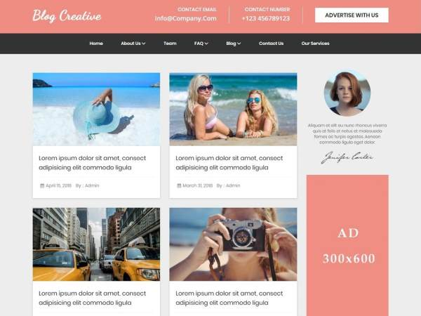 Blog Creative WordPress Theme