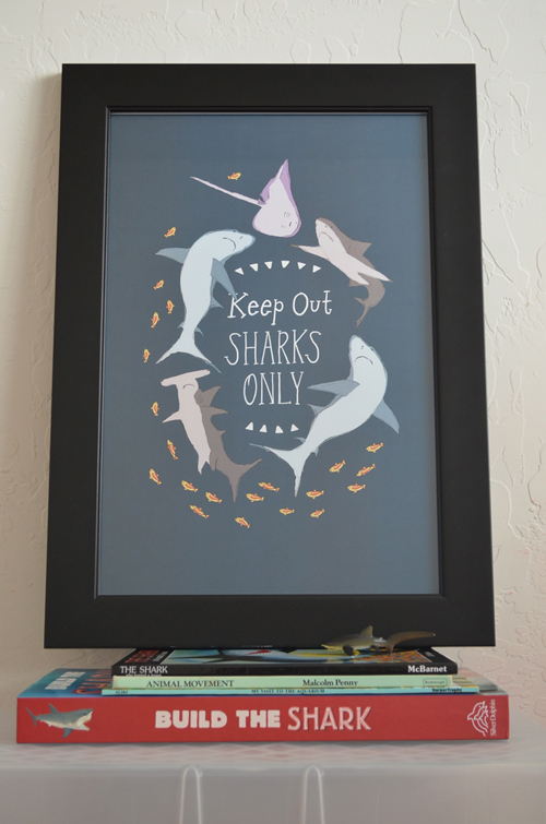 Kids birthday gift, Birthday art poster, sharks fun poster, keep out sharks art print, whimsical shark art poster, kids room art print decor, home decor kid's room art poster, home decor art poster, 12 x18 Vintage Shark Poster, Modern Shark Art Poster for Kid's Room, Shark Party Poster Idea, Shark Poster, Cool Kid's Art Poster, Cool Shark Poster for Kid's Room