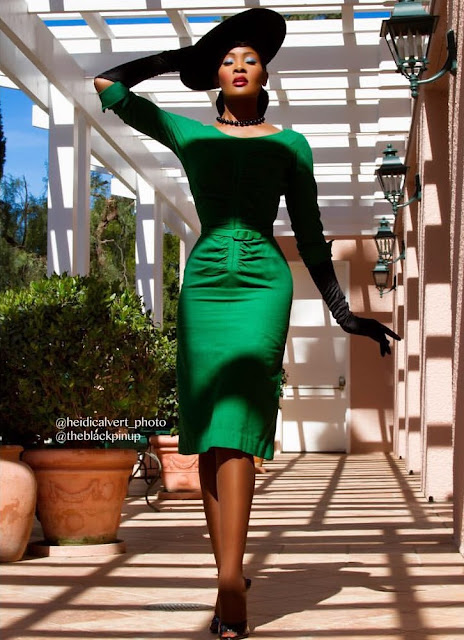 """It Was My Goal To Show That Black Women That Love Pinup Fashion Exist"" Model Angelique Noire Talks  Pinup Fashion Natural Hair And More"